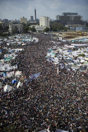 Egyptian protest crowd